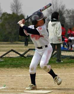 野球少年バッティング指導