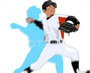 野球少年ピッチャー