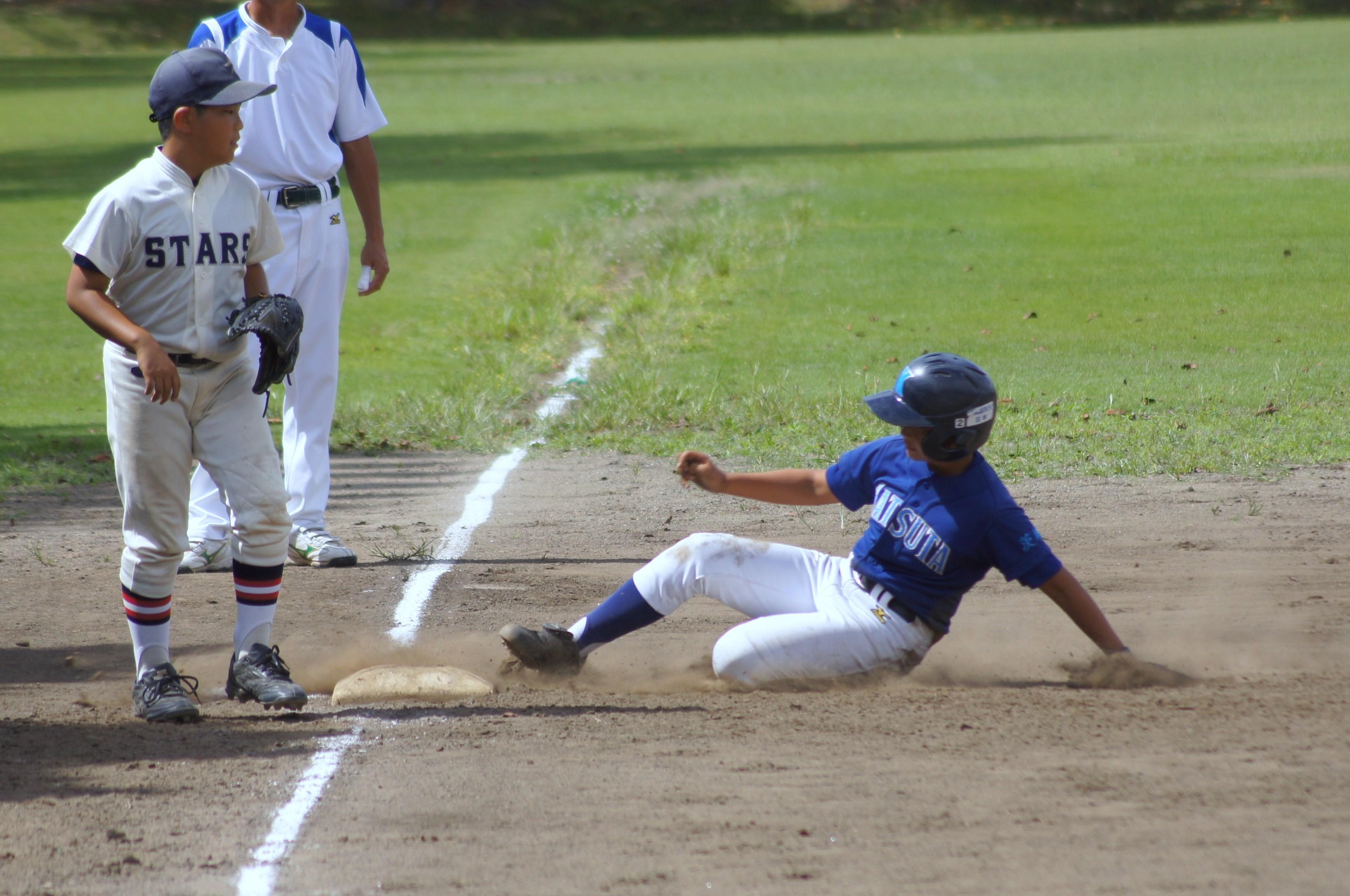 少年野球スライディング練習