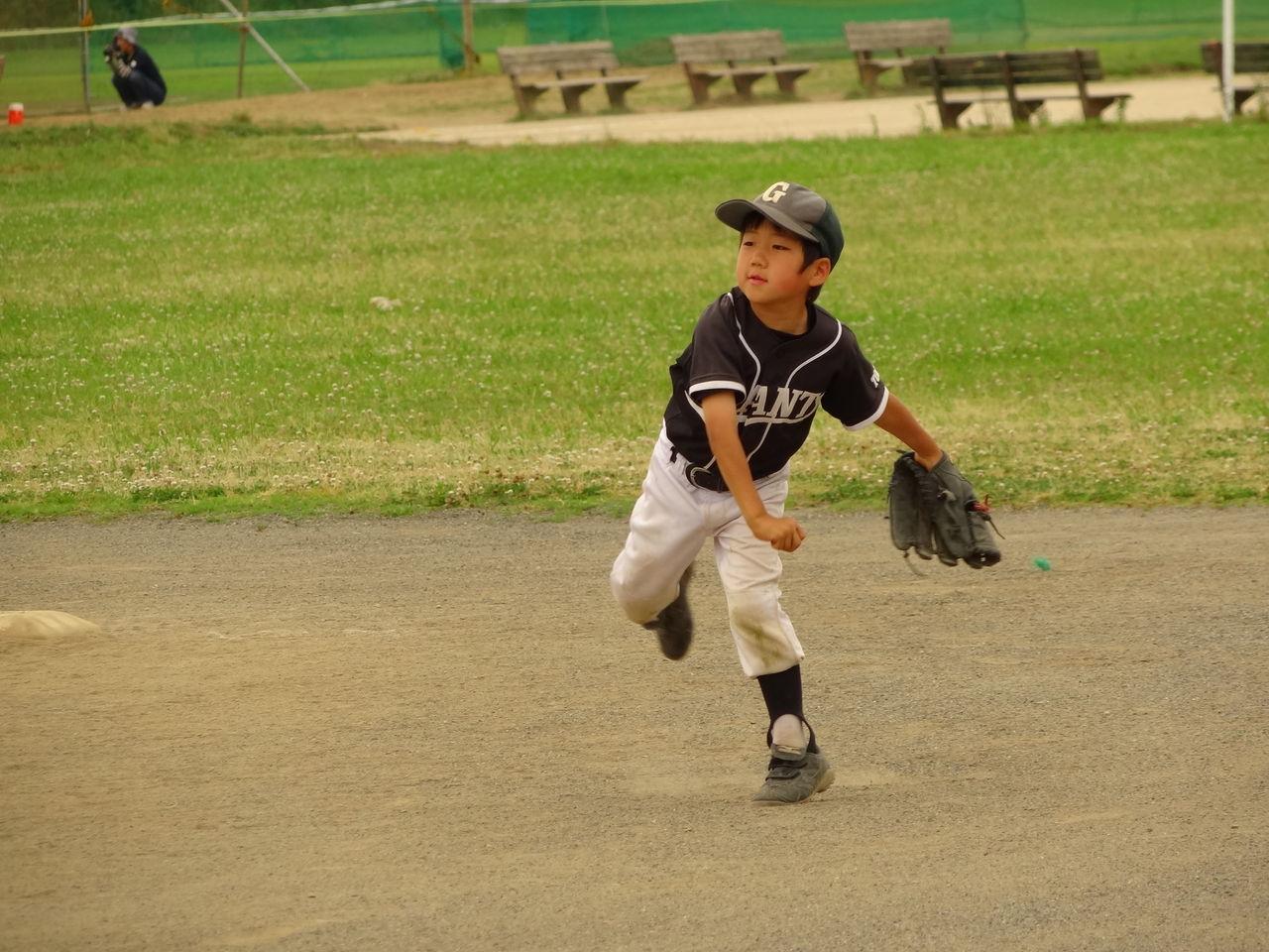 少年野球の練習で2ステップスローが基本